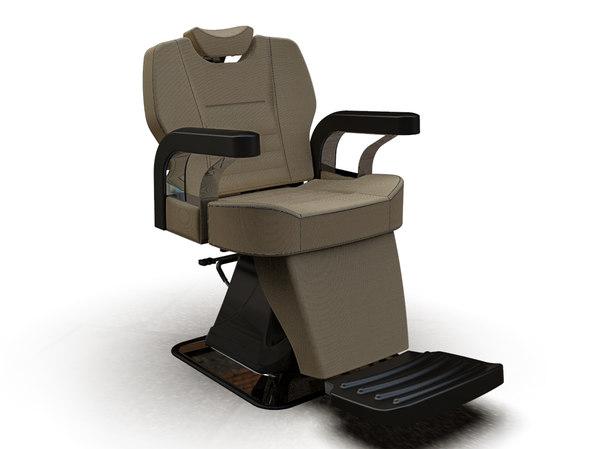 man barber chair 6602-1 3D model