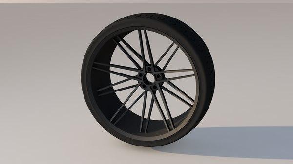 3D vossen wheels model