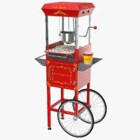 real popcorn cart 3D