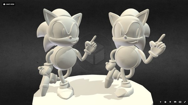 sonic hedgehog 3D model