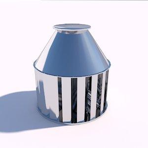 3D model fan roof
