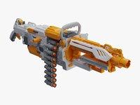 Nerf Vulcan EBF-25 White Yellow Plastic Toy Gun