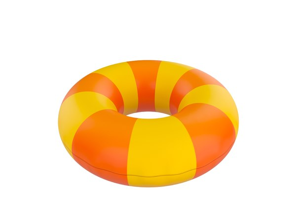 inflatable pool float ring 3D