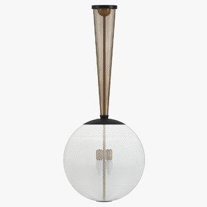 carlo scarpa ceiling light 3D model