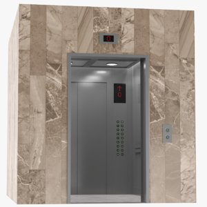 3D model elevator interior exterior
