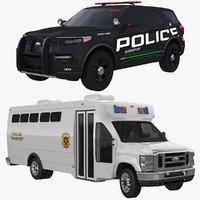 3D model explorer police prisoner