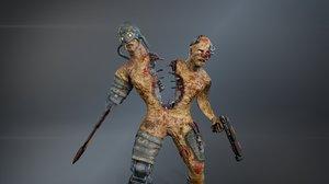 3D cyber monsters model