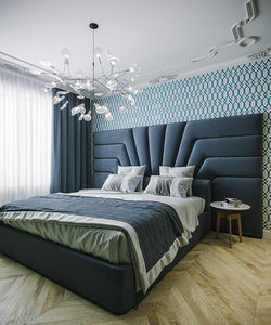 bed bedroom interior 3D model