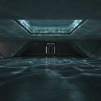 3D model sci-fi interior