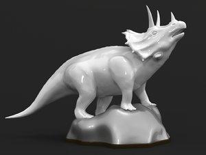 triceratops dinosaur statuette 3D model