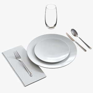 casual table setting model