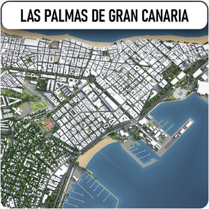 3D model las palmas gran canaria