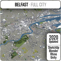 3D model belfast surrounding -