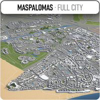 3D model maspalomas surrounding -