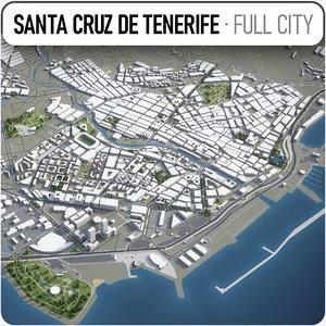 3D model santa cruz tenerife surrounding