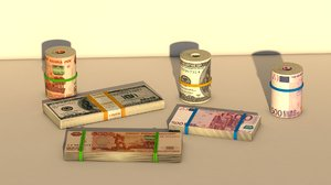 3D pack banknote rolls