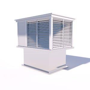 fan roof 3D model