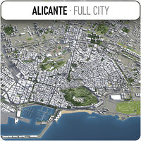 alicante surrounding - 3D