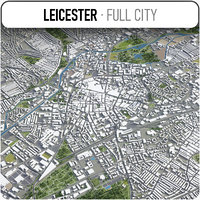 3D leicester surrounding - model
