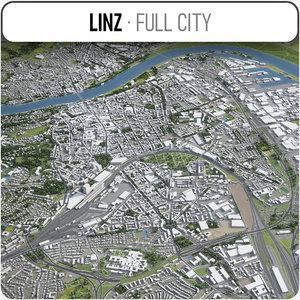 linz surrounding - 3D model