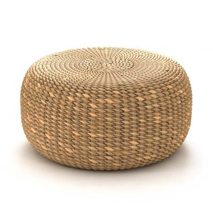 3D model pouf waterhyacinth natural fibre