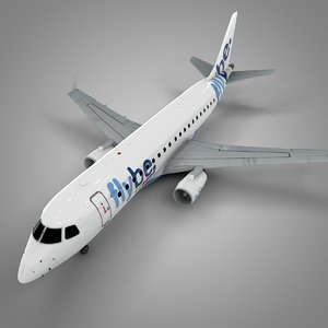 flybe embraer175 l542 3D model