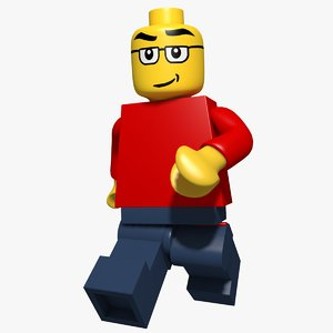 lego character rigged model