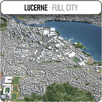 lucerne surrounding - 3D model