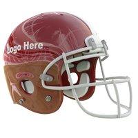 3D model red football helmet