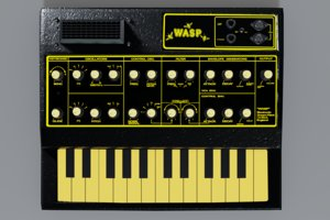 wasp edp synthesizer 3D model