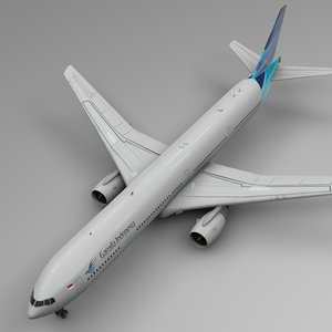 3D garuda indonesia boeing 777-300er model