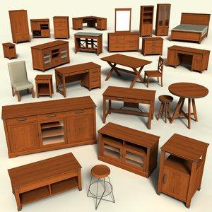 3D carson forge sauder furniture model