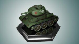 mini russian tank t34 3D