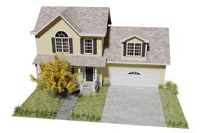 3D cartoon house