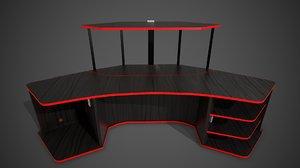 ready pbr computer desk 3D model