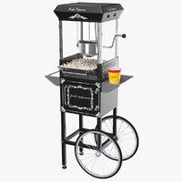 3D real popcorn cart
