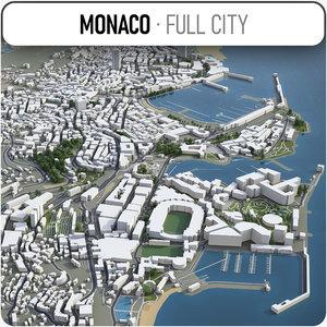 3D monaco surrounding -