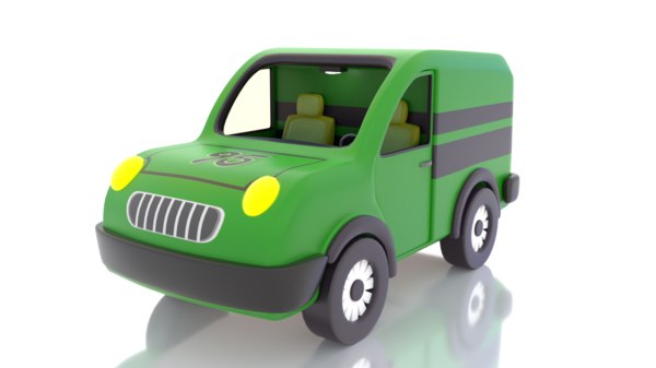 cartoon toy mini truck 3D