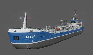 small tanker 3D model
