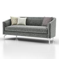 3D annette cabriole sofa model