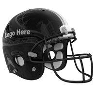 3D black football helmet