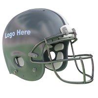 silver blue football helmet 3D