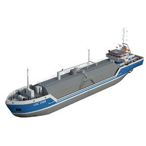 gas 1500 liquefied carrier 3D model