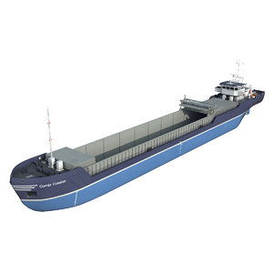 combi coaster general cargo ship model