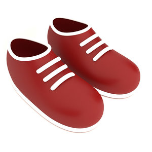 3D stylized cartoon baby shoes
