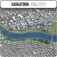 3D model saskatoon surrounding -