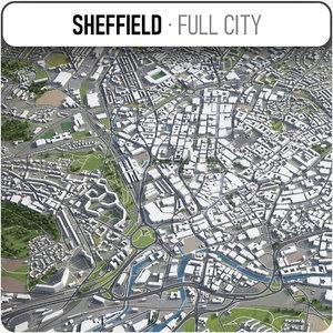 sheffield surrounding - 3D model