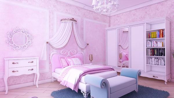 queen childroom 3D model