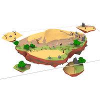 desert animals 3D model