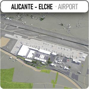 3D alicante - elche airport